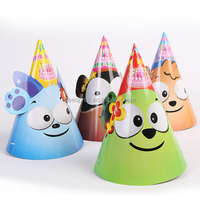 New Deisgn Cartoon Children Birthday Party Hat Animal Funny Paper Hat Kids Party Crown