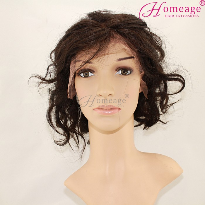 homeage 2016 overnight delivery short fashion brazilian hair cuts lace wigs