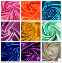 China supplier Cheap bright polyester types of duchess satin silk fabric