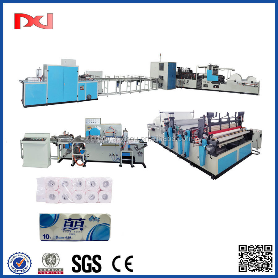 New designed toilet paper kitchen towel papermaking machine production line with good quality