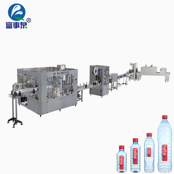 Manufacturer automatic plc control mineral mineral water filling machine