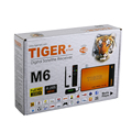Tiger Star New product of M6 digital satellite receiver box with one year iks and one year top ten ,one year kids movie
