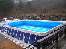 mobile outdoor rubber swimming pool