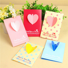 Love Heart shape confession 3d gift craft handmade greeting card