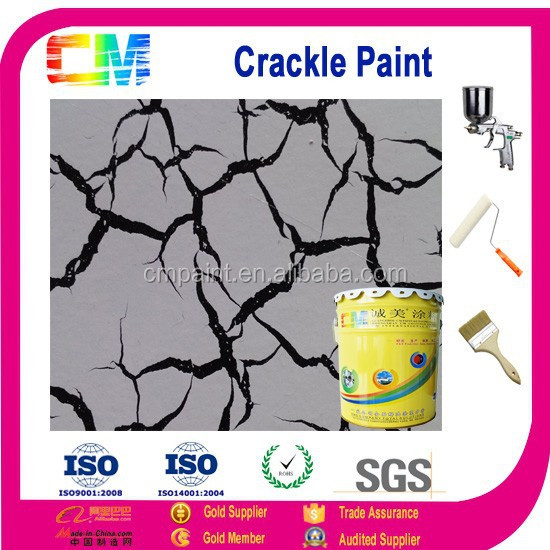 Construction painting-crackle effect decorative painting for internal wall