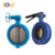 Ductile Iron U type thin double flange butterfly valve