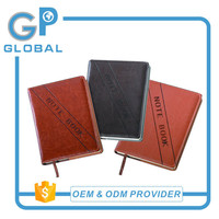 leather stationery fashion a4 a5 a6 b5 ruled notebooks with LOGO printed