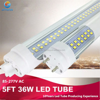 SMD2835 AC85-265V T8 2.4m replacement Led Fluorescent Light 65W 8ft Led Tubes Double Rows