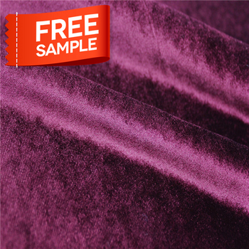 High quality polyester micro embossed flocked silk velvet fabric
