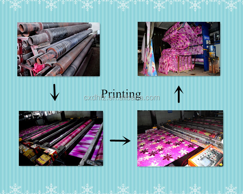Soft handfeeling disperse printing woven fabric