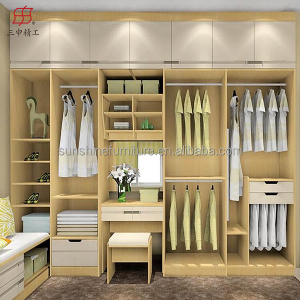 Cheap Modern Wood Wardrobe Bedroom Closets Wardrobe