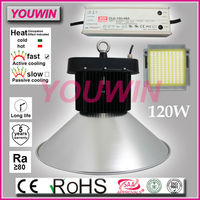 Ali08 Top quality super bright meanwell driver 120w led garage high bay light