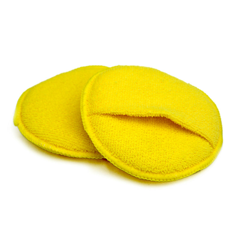 100% microfiber with quality foam inside car care wax applicator