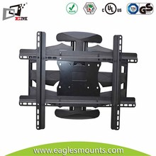 High Quality 600X400 VESA Ultra Slim Wall Mount TV Cabinets With Powder Black