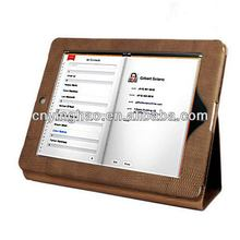 Newest cheapest leather folio stand case for new ipad 3