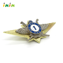 2016 Hot selling custom metal pilot wings pin badge