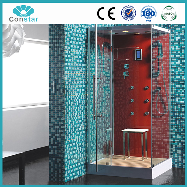 Constar 2017 High Quality Square Red italian steam shower cabin