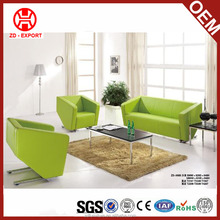 Artistic green colored leather sofa set loveseat sofa for sale ZD-008S