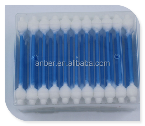 Blue Plastic Stick Buds 100% Cotton