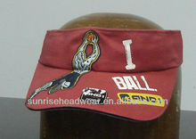 custom cotton sun visor cap sandwich