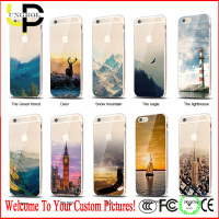 3D landscape printing design your own mobile phone case for iPhone 6