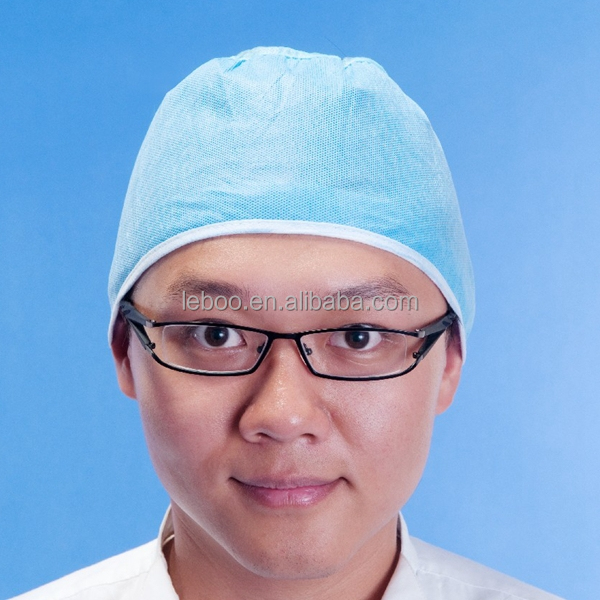 Top quality disposable hair surgeon non-woven cap for doctor