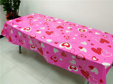 Party peva / pe wedding banquet table cover / tablecloth for Valentine's Day