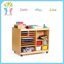 2017 LPL professional preschool furniture and equipment children 14 cubbies cabinets School furniture