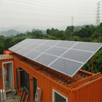2kw poly solar panles system/on-grid solar mounting system