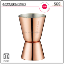 Stainless Steel double jigger with copper plated