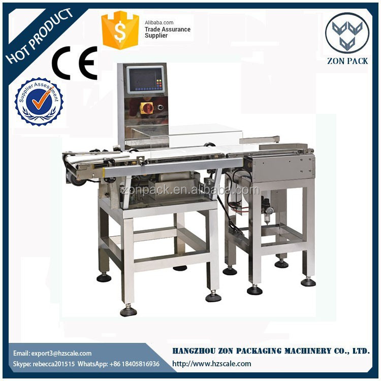 Hot selling conveyor online food bags package check weigher