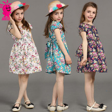 Milan Creations Baby Girls Dress Princess 2015 Brand Kids Dresses for Girls Clothes fashion Print Silk Girls Dresses