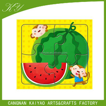 Printed lovely cartoon design for kids custom made puzzles