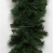 promotion artificial pvc plastic christmas green garland