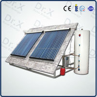 Split Pressurized Solar Water Heating System with Heat Pipe Solar Thermal Collector