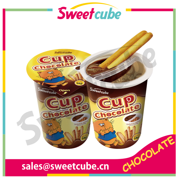 new arrival chocolate cup with biscuit