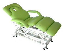 Green Portable Electric Control Beauty Bed For Beauty Spa Salon
