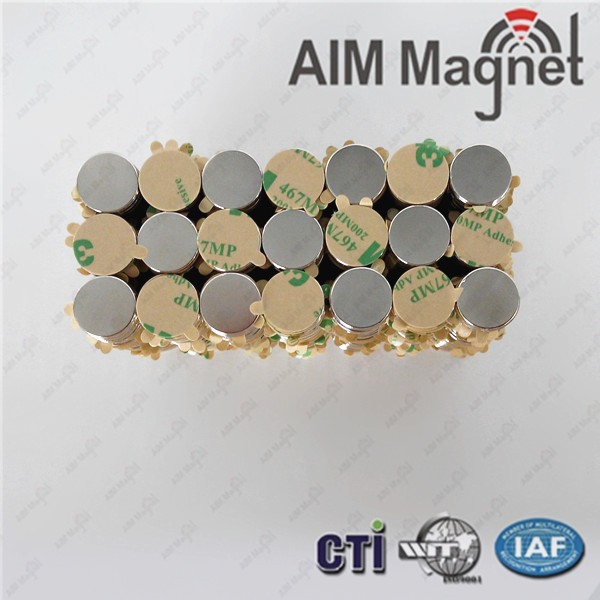 10x2mm Round Adhensive Magnet for package