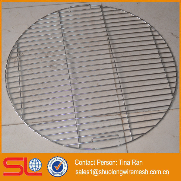 Stainless steel bbq grill wire mesh grate Round or Rectangular shape