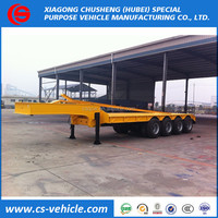 ChuSheng 4 Axles 70ton Low Flatbed