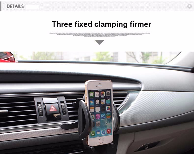 Universal Car Navigation Air Conditioning Mouth Mobile Phone Holder 360 Degree Rotate Magnet Air Vent Outlet Cellphone Stand