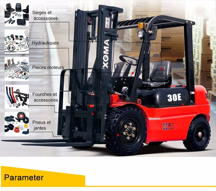 XG530S 3T Side Forklift Trucks new style