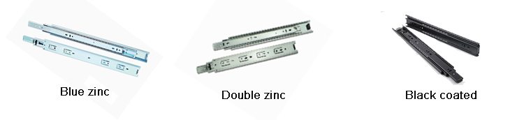 45mm width telescopic drawer slide rail