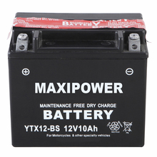 newest designed dry charged motorcycle battery YTX12-BS