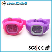 Led flashing silicone jelly watches custom silicone watches silicone sanda watch