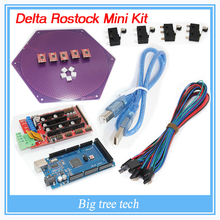 Delta Rostock mini kit kossel 3d printer kit reprap A4988 +Ramps 1.4+ Mega 2560+ heat bed and 4Pin wire cable