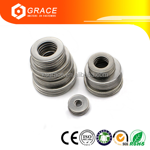 Hardened Steel Circular and Circular Clipped Washer