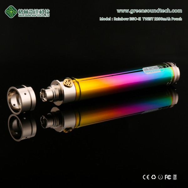 Twist Battery GS EGoII Rainbow Twist 2200mah 510 e-cigarette wholesale