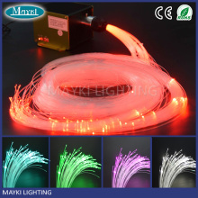 LED decorative plastic fiber optic with end lit PMMA optical fiber and 12v 12w illuminator