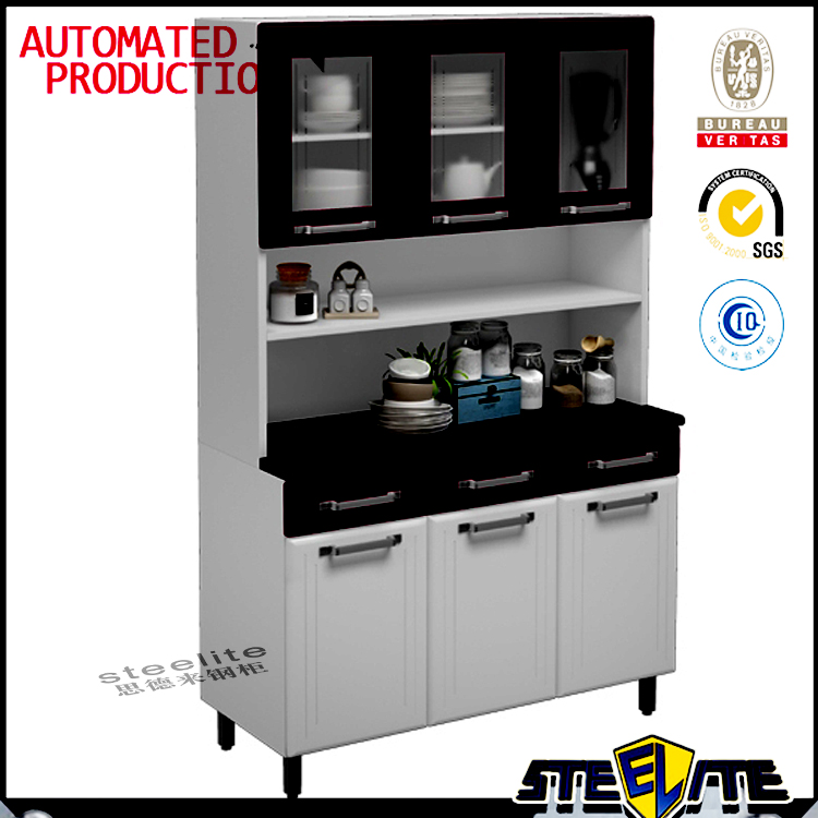 Italian Kitchen Furniture Steel Kitchen Cabinet Simple